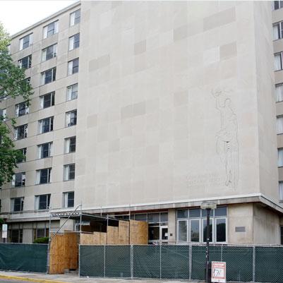 Harper Hall exterior construction