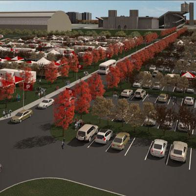 Parking rendering