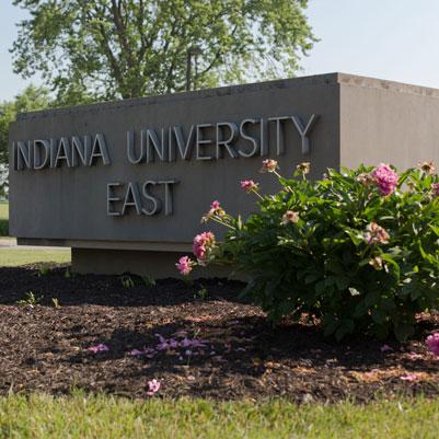IU East campus sign